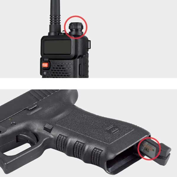 Arme avec puce RFID
